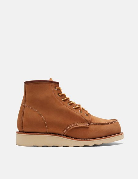 Red Wing Moc Toe Boots - Khaki Honey Chinook