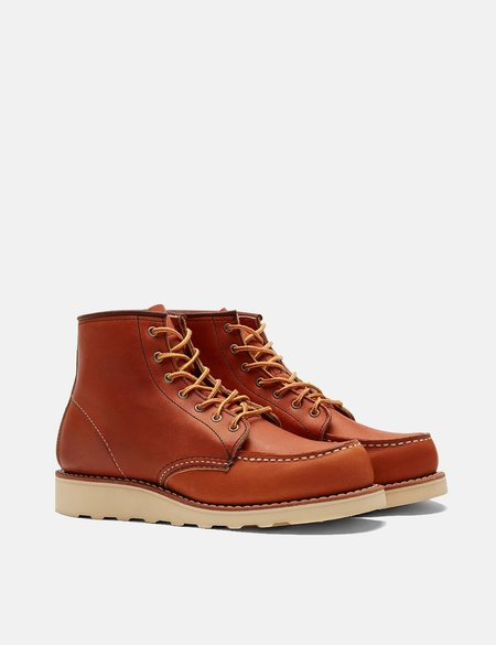 Red Wing Work Moc Toe Boots - Oro Legacy Tan