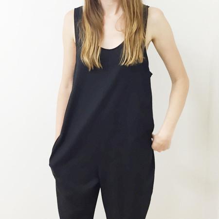 Laurs Kemp Raw Silk Ulli Jumpsuit - Black