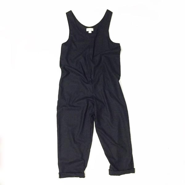Laurs Kemp Black Raw Silk Ulli Jumpsuit