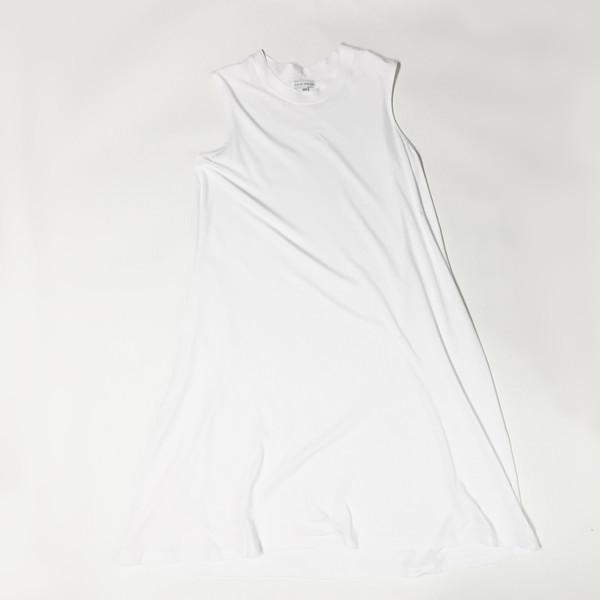 Shelby Steiner White Sleeveless T Shirt Dress