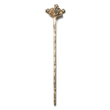 KIRSTEN MEUNSTER Bell Pod Hair Stick - Brass