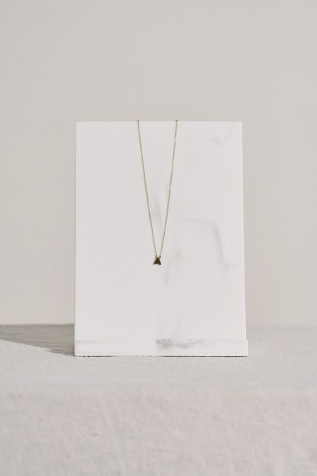 Thatch Initial Letter Necklace