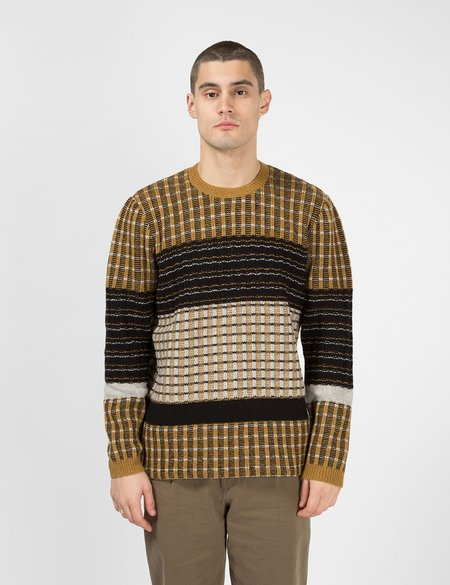 Folk Clothing Fraction Jumper - Dark Fawn/Multi