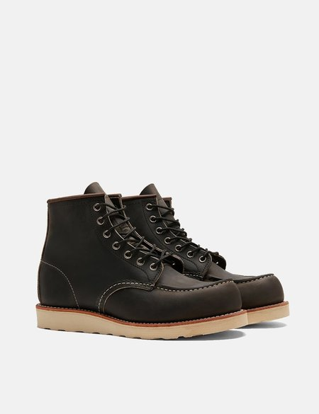 """Red Wing Shoes Heritage 8890 6"""" Moc Toe Work Boots - Charcoal Grey"""