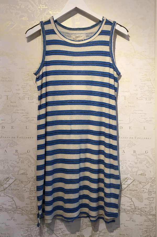 Current Elliott Muscle Tee Dress in Wayfarer Stripe