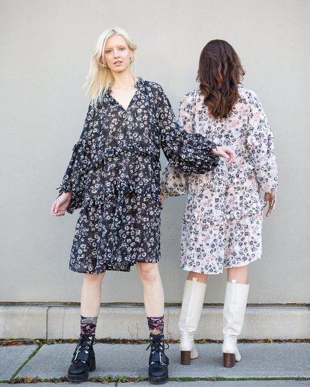 Munthe Gardenia Printed Dress - black