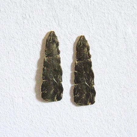 Satomi Studio Mudstone Earrings - Brass