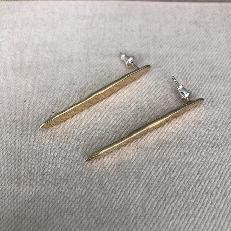 Odette New York Demi Ligne Long Earrings - Brass