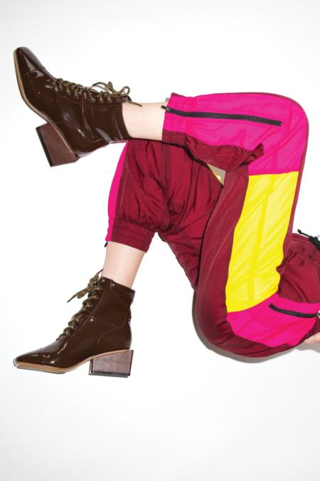 Kurt Lyle Kyla Lace Up Boot - Dark Brown