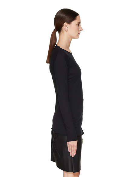 Leon Emanuel Blanck Cotton & Cashmere Long Sleeve T-Shirt - Black
