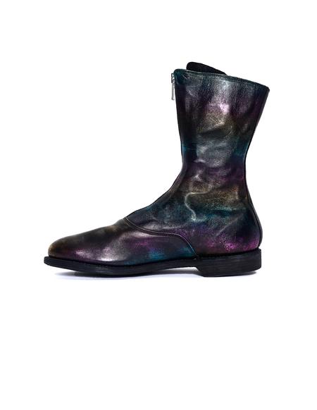 Guidi Rainbow Leather Zip Boots - Multicolor