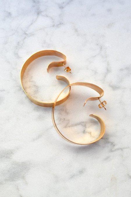 Annika Inez Wavy Ribbon Hoop Earrings
