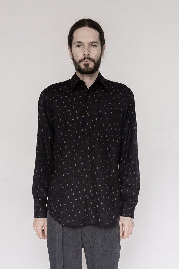 David Michael Tencel Print Dress Shirt