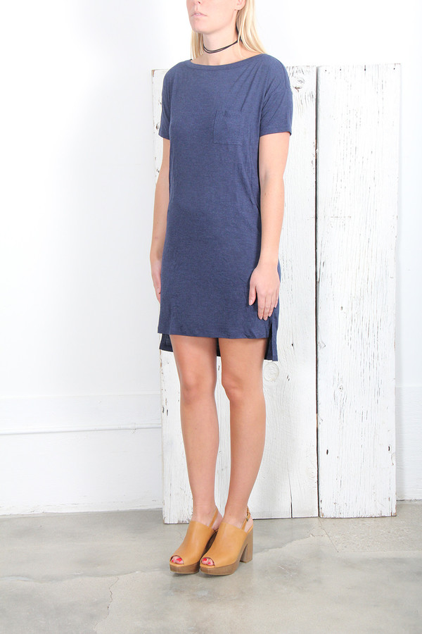 T By Alexander Wang CLASSIC BOATNECK DRESS WITH POCKET