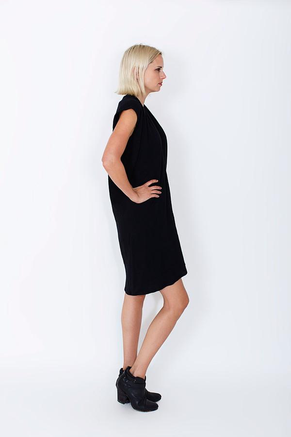 Miranda Bennett  Everyday Dress, Lined Cotton Gauze in Black