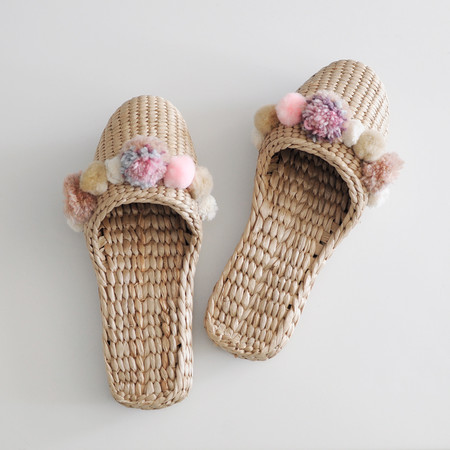 Fairy Fortune Handwoven Pom Pom House Slippers