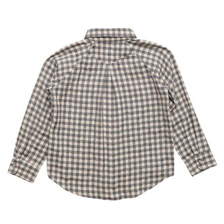 KIDS East End Highlanders Raglan Buttondown Shirt - Grey/Mocha Plaid