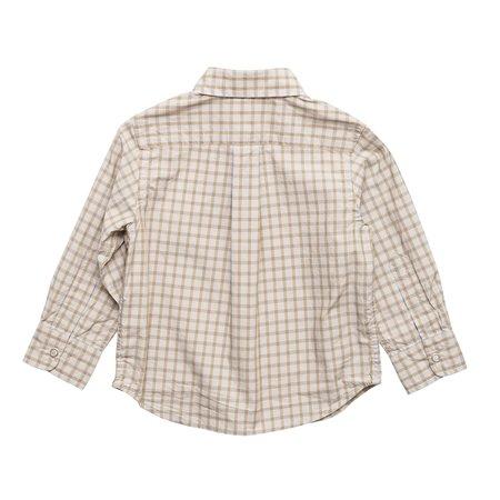 kids Arch & Line Butter Check Shirt - Light Grey