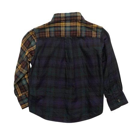 kids Arch & Line Viyella Check Shirt - Navy/Yellow Plaid