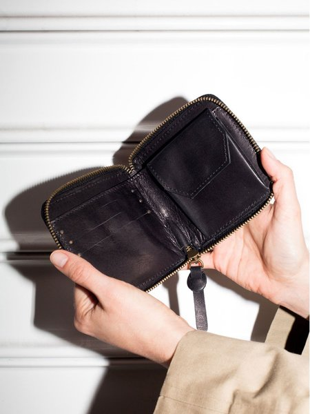 Park Bags Small Leather Wallet - Black