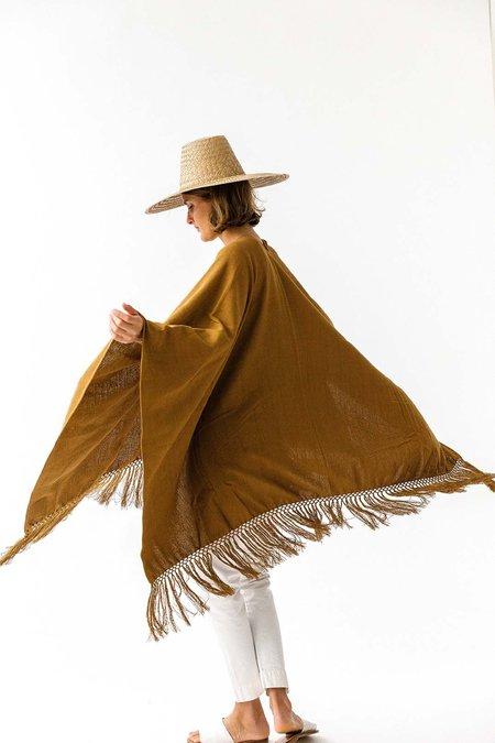 Pampa cotton poncho - Tobacco