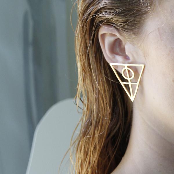 Alynne Lavigne Large Triangle Earrings