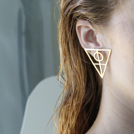 Alynne Lavigne Large Triangle Earrings