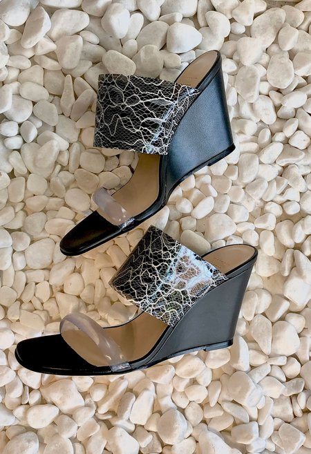Maryam Nassir Zadeh Olympia Wedge - Black Lace