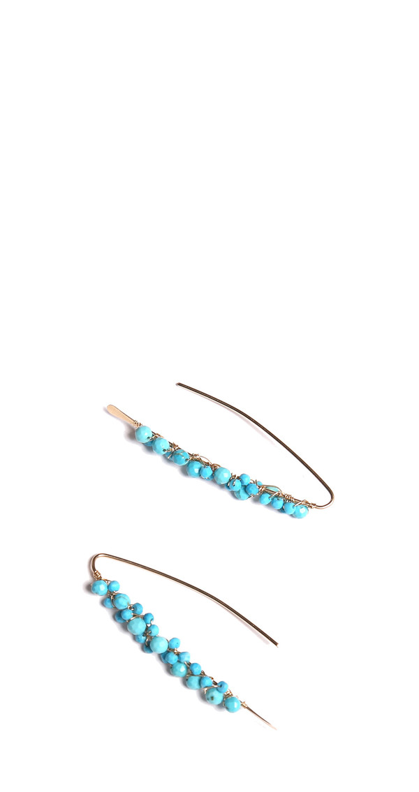 James and Jezebelle Turquoise Paperclip Earring