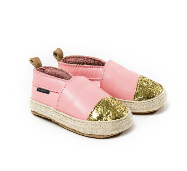 Pretty Brave Espadrille Soft Pink With Glitter Toe