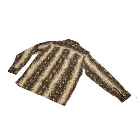 sugar cane Style Eyes Snake Corduroy Sports Shirt - Off White
