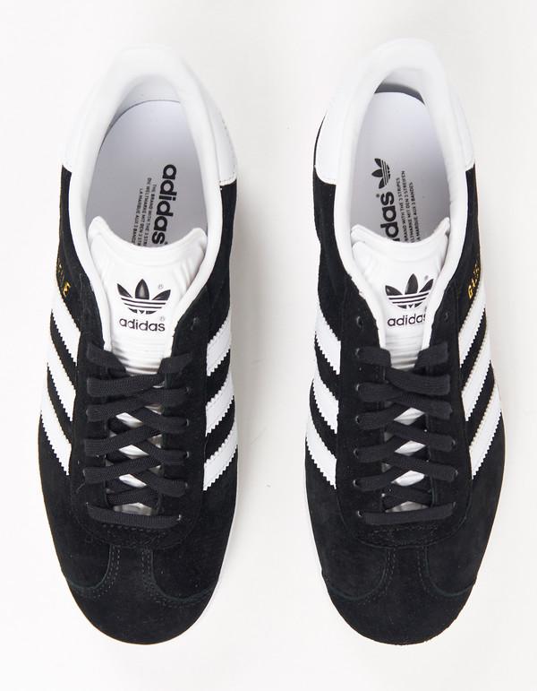 Adidas Gazelle Core Black White Gold