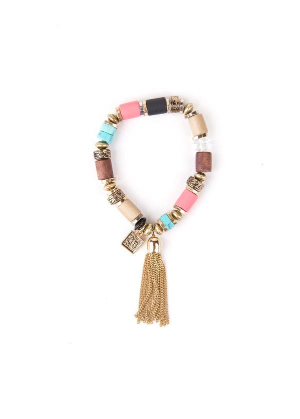 Jenny Bird - Tibetove Tassel Bracelet in Multi