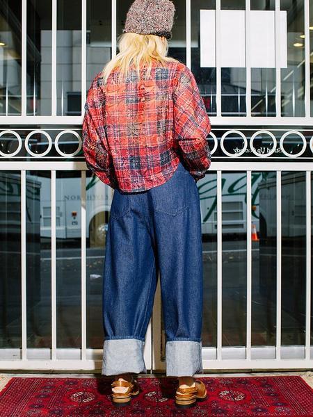 Suzanne Rae Button Up Blouse - Lace Plaid