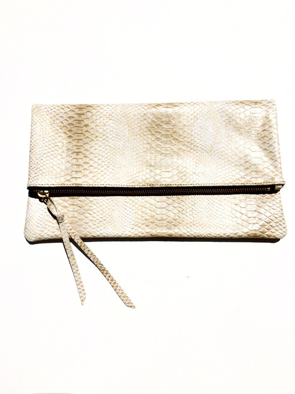 OLIVEVE anastasia in cream cobra cow leather-FINAL SALE