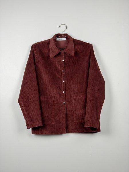 Devlyn Van Loon Corduroy Chore Jacket - Berry