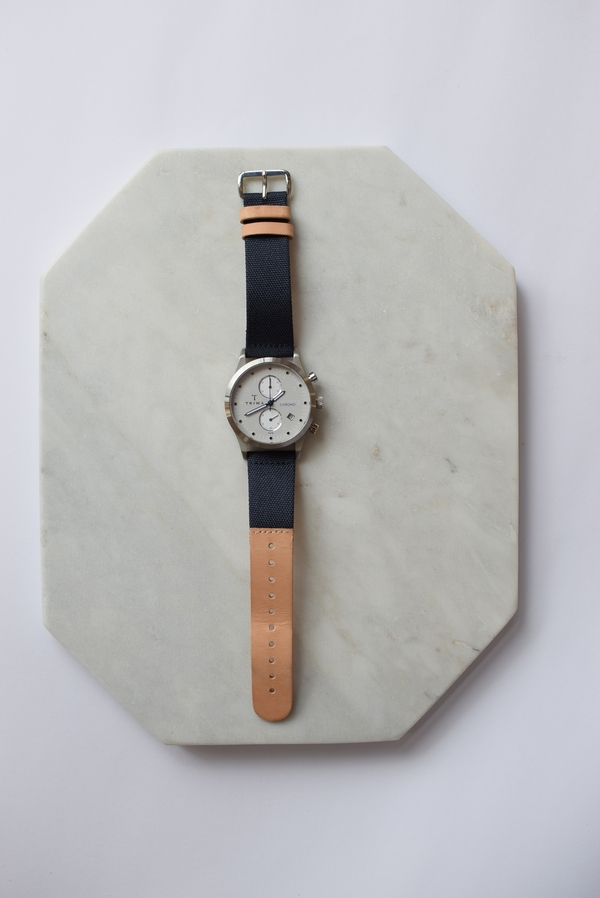 Triwa Shade Lansen Chrono Navy Canvas Classic