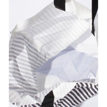Issey Miyake Stripe Mesh Pleated Bag - Green