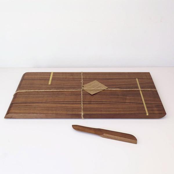 Christina Hilborne Large Walnut Serving Board with Knife