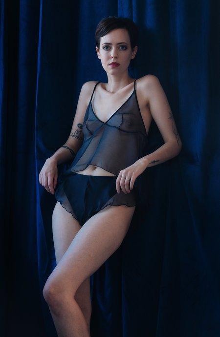 Lorette Lingerie Folie Silk Shorty - Midnight