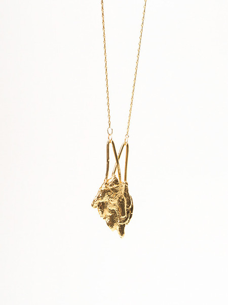 Ladyluna Bark Arrow Necklace