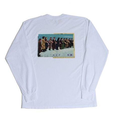 Surround Ainu Long Sleeve Tee - White