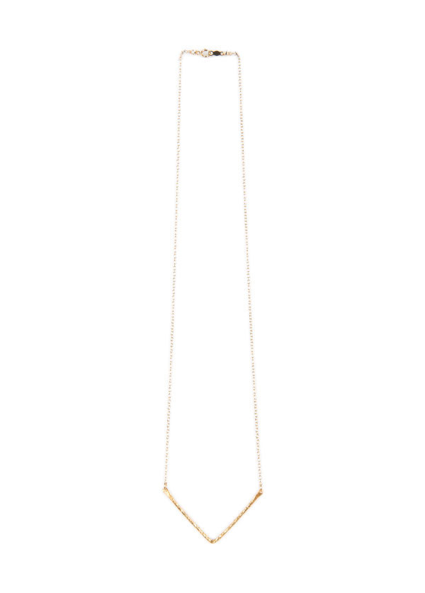 Lisbeth - V Pendant Necklace in Silver or Gold