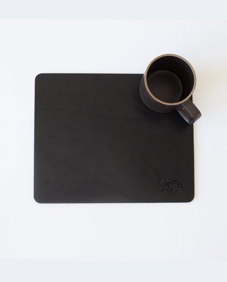 Foxtrot Studio Large Leather Mousepad - Black