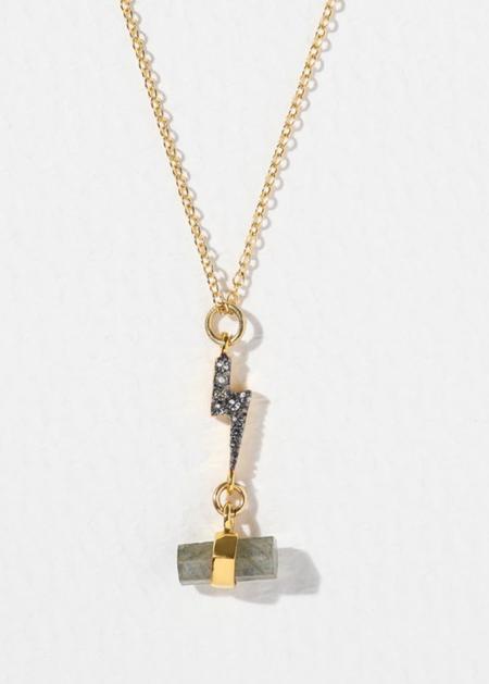 Vanessa Mooney Zeus Necklace - 24kt Gold Plated
