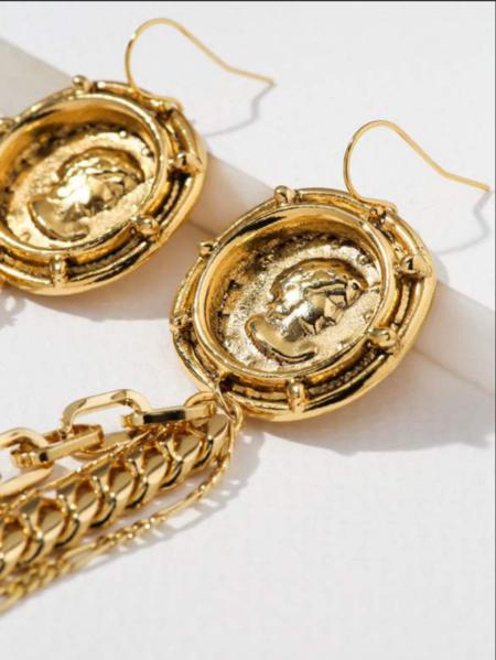 Vanessa Mooney Trevi Earring - 24kt Gold Plated
