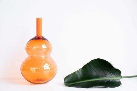Vitreluxe Handblown Vase - Orange