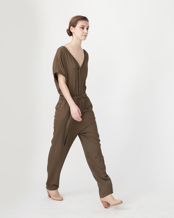 Sessun Mara Jumpsuit in Khaki