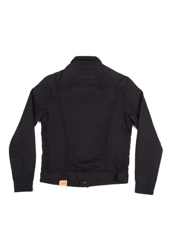 Men's Naked & Famous Denim - Denim Jacket in Quilted Cotton / Wool Black